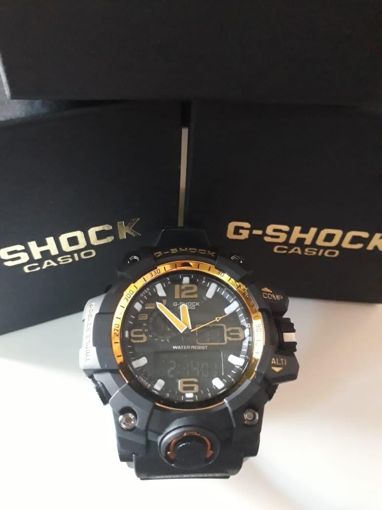 97eeb33021e relogio g-shock casio muldmaster preto com detalhes dourado. Carregando zoom .