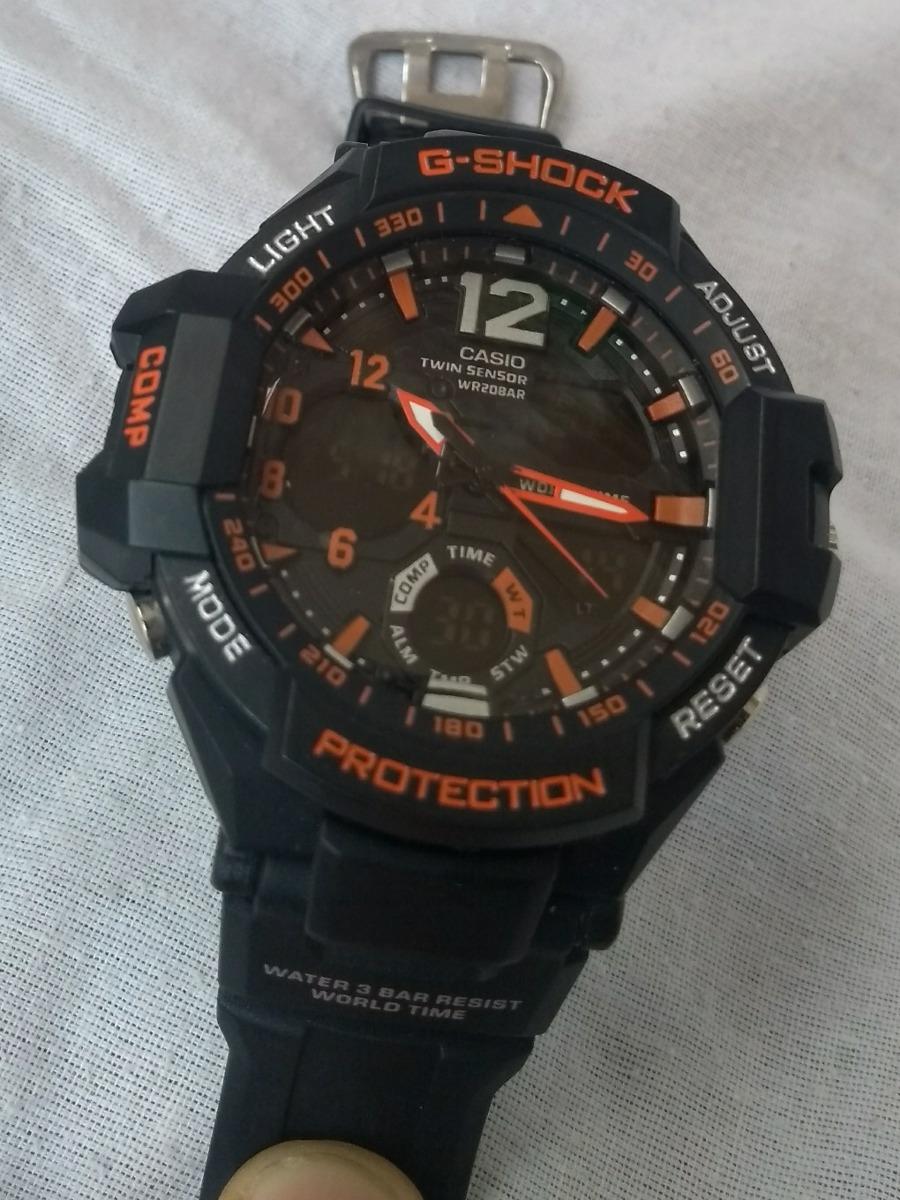 cd2b1ebd71a relógio g shock casio preto e laranja promoçao cronometro. 7 Fotos