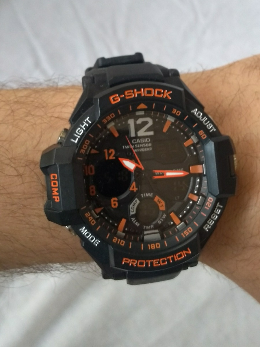 15496d10849 Relógio G Shock Casio Preto E Laranja Promoçao Cronometro - R  59