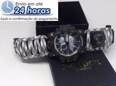 ac0e6a9c672 Relógio G-shock Da Sobrevivência Militar 6 Em 1 Frete Grátis - R ...