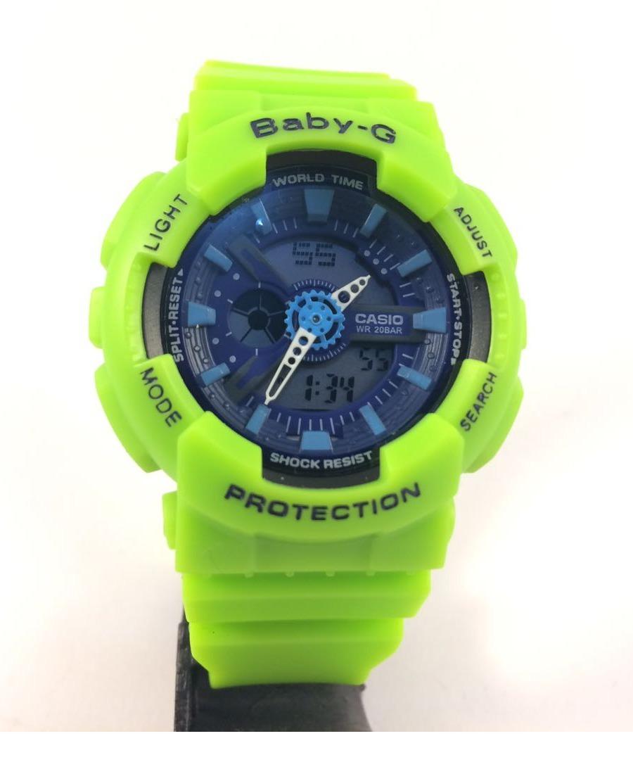 474676d1954 relógio g shock feminino baby g a prova d água verde limão. Carregando zoom.