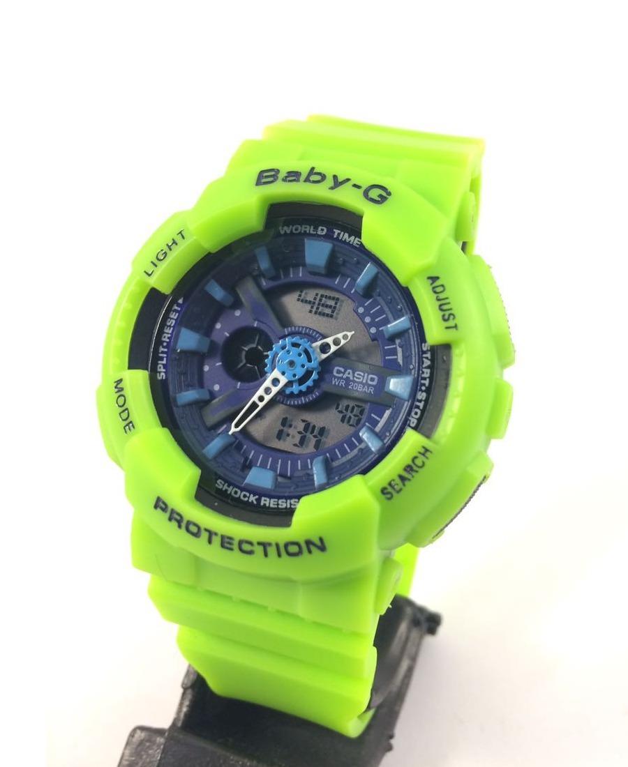 033004a2c97 relógio g shock feminino baby g a prova d água verde limão. Carregando zoom.