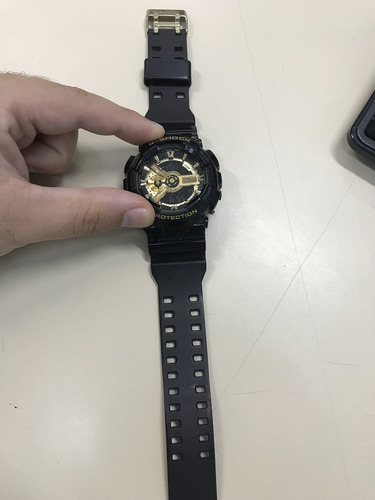 relógio g-shock ga-110gb - usado com caixa e nf - bom estado