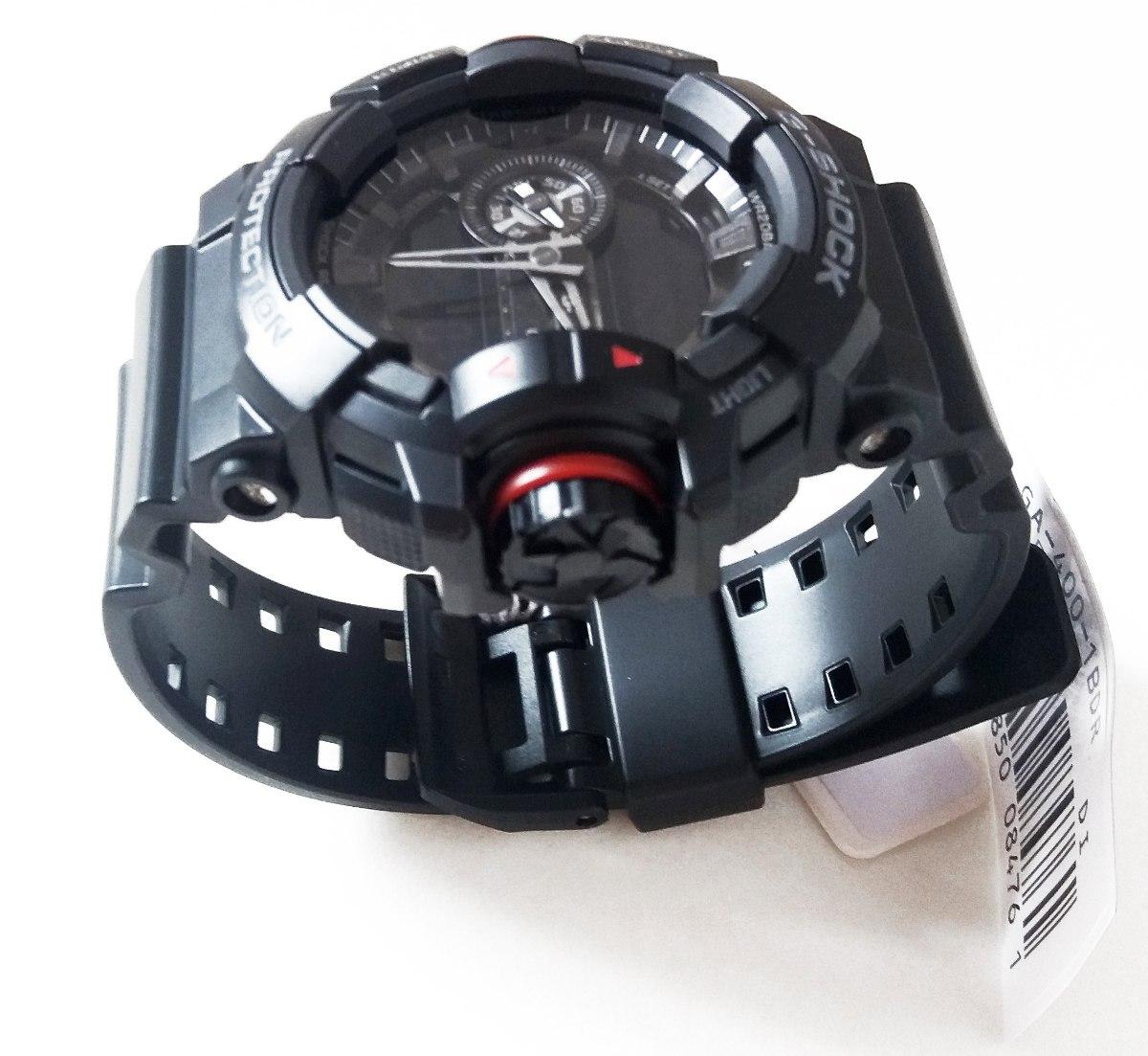 31584628f89 relógio g-shock ga-400 casio todo preto vidro mineral. Carregando zoom.