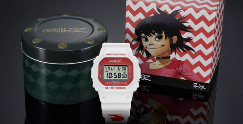 relógio g-shock gorillaz dw-5600grlzn-7er + nfe + garantia