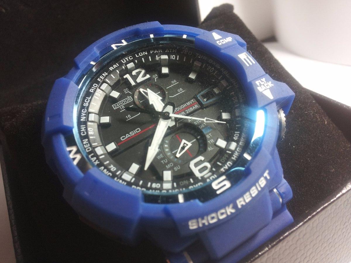 07d909e7e2e relogio g-shock gravity defier gw-a1100-1a3 casio azul. Carregando zoom.