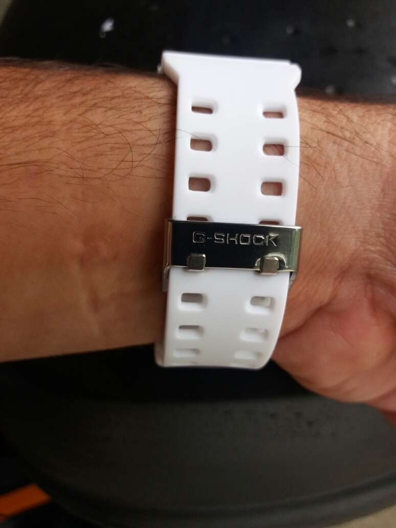 685d5fd4357 relógio g shock masculino casio branco fosco. Carregando zoom.