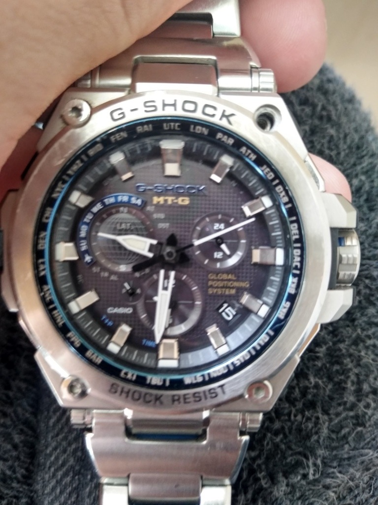 competitive price 25e03 82c71 Relógio G-shock Mtg-g1000d-1adr *waveceptor Gps Original