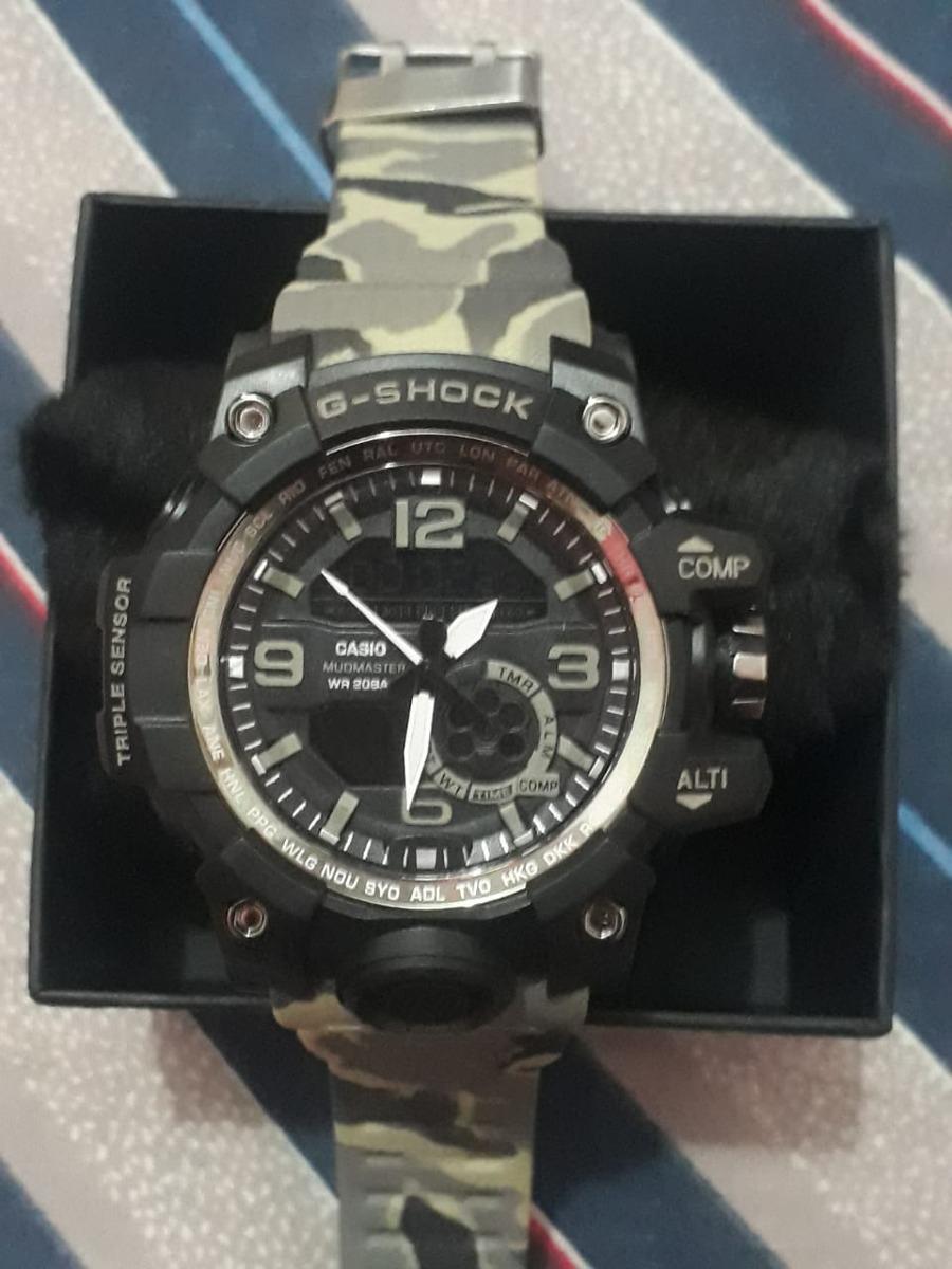 b76eb33421c Relógio G-shock Mudmaster Camuflado Exercíto + Brinde Promo - R  179 ...