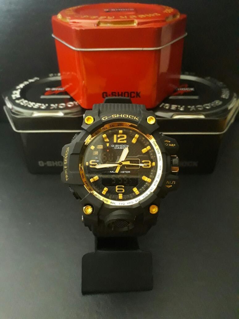 fa0d58fd9d1 relógio g-shock mudmaster preto com dourado em promoção. Carregando zoom.