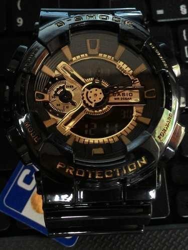 c7bfaf2b30a Relógio G-shock Preto Com Dourado Gshock - R  89