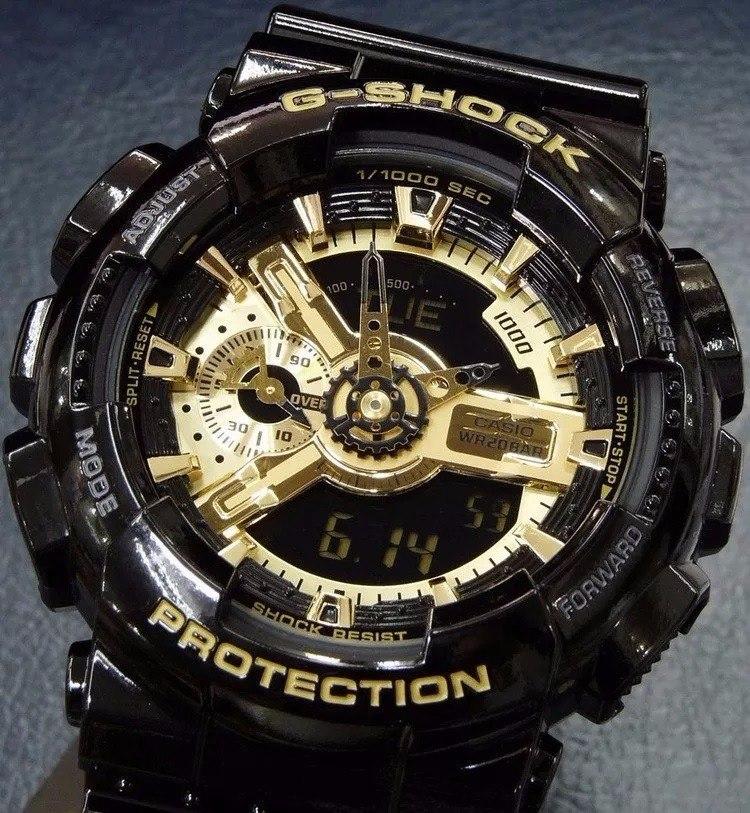 849abbdcfa7 relógio g-shock preto com dourado gshock. Carregando zoom.