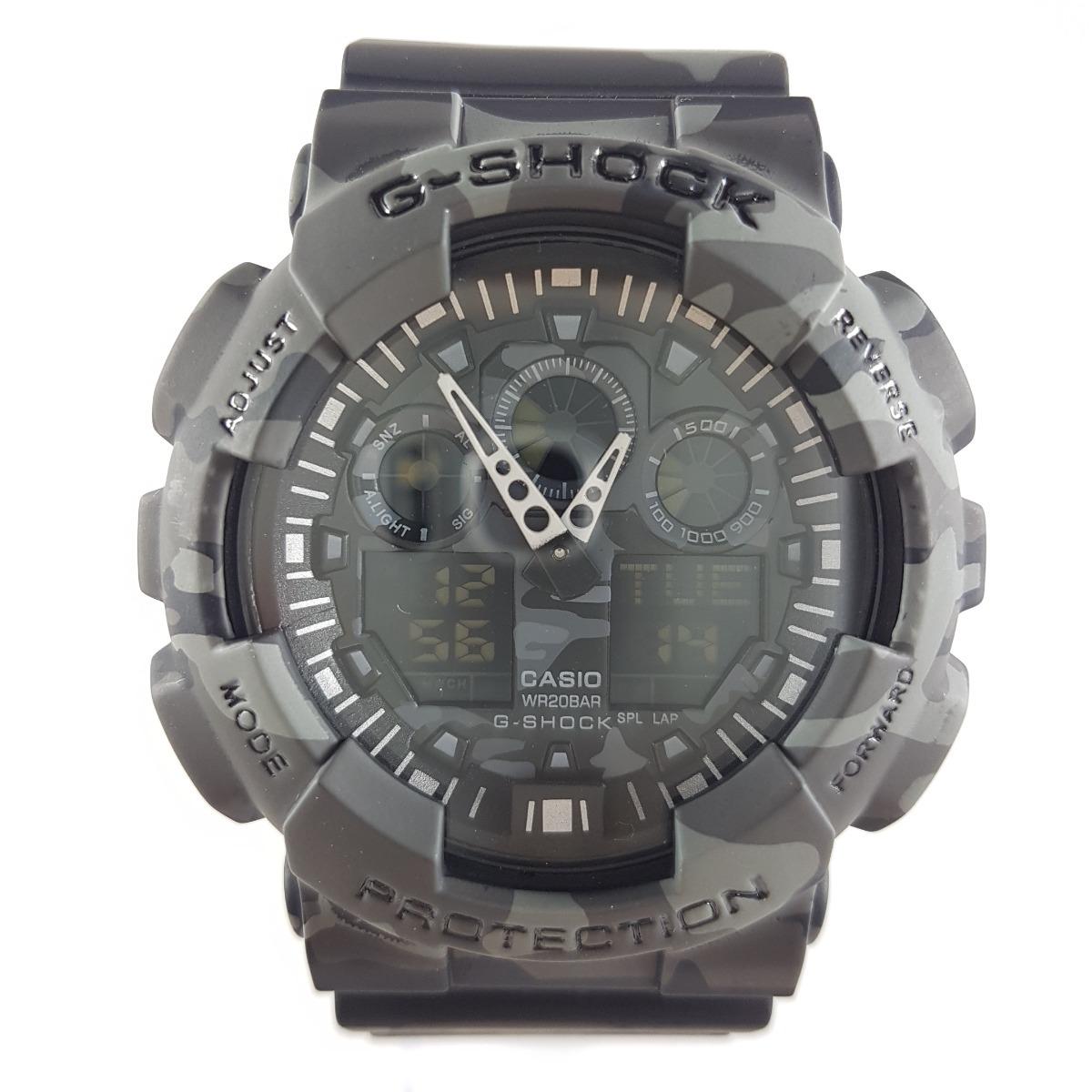 2d019c56fbc relógio g-shock à prova d água importado cinza camuflado. Carregando zoom.