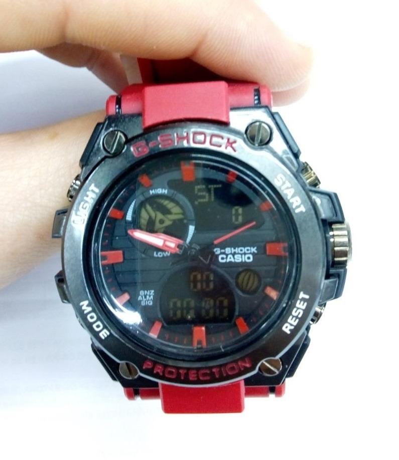 039f9feba5f relógio g-shock red aço prova d água + caixa + frete grátis. Carregando zoom .