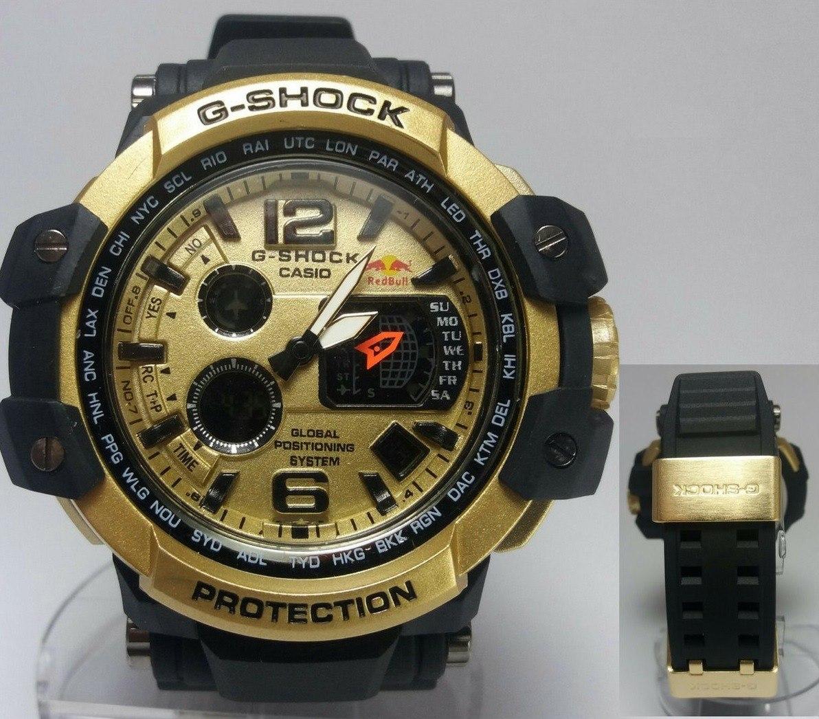 94de419281a relógio g-shock redbull dourado e preto. Carregando zoom.