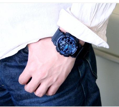 relógio ga100 1a2dr g-shock analógico digital 100% original