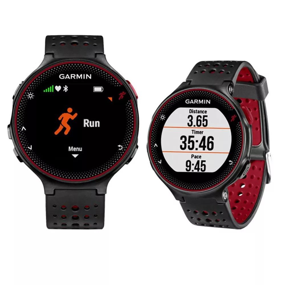 c7e6cb24767 relógio garmin forerunner 235 gps monitor cardiaco vermelho. Carregando  zoom.