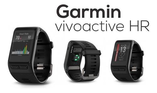 relógio garmin vivoactive hr pulseira cardíaca bike golfe