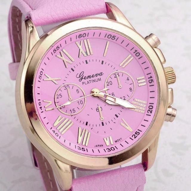 03a338f64bd Relógio Geneva Analógico Feminino Quartz Rosa Frete M.envios - R  39 ...