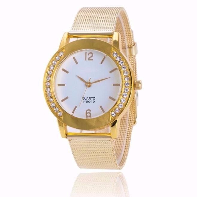 0064899f491 Relogio Geneva Dourado Luxo Strass Feminino Promoção - R  89