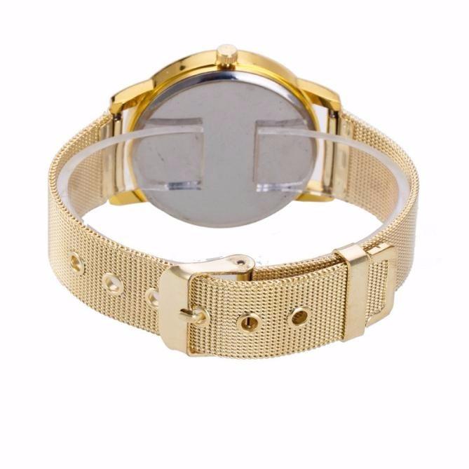 30e79076949 Relogio Geneva Dourado Luxo Strass Feminino Promoção - R  89