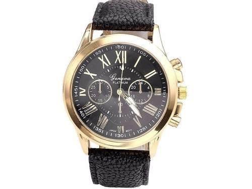 d437fdfa4a9 Relógio Geneva R12 Preto Feminino Pulseira De Couro - R  52