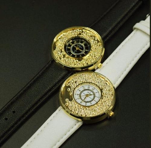 7112ad68e18 Relógio Geneva Strass Brilho Moda Importado Pronta Entrega - R  30 ...