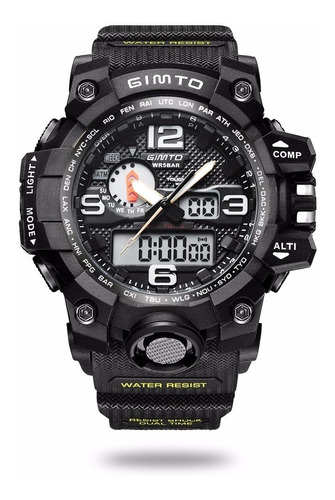 relógio gimto espotivo  estilo militar aprova d'água shock