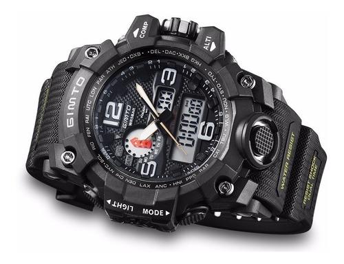 relógio gimto espotivo militar estilo aprova d'água shock