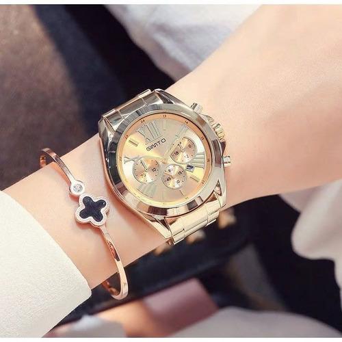 relógio gimto gt0240 aço inoxidável feminino