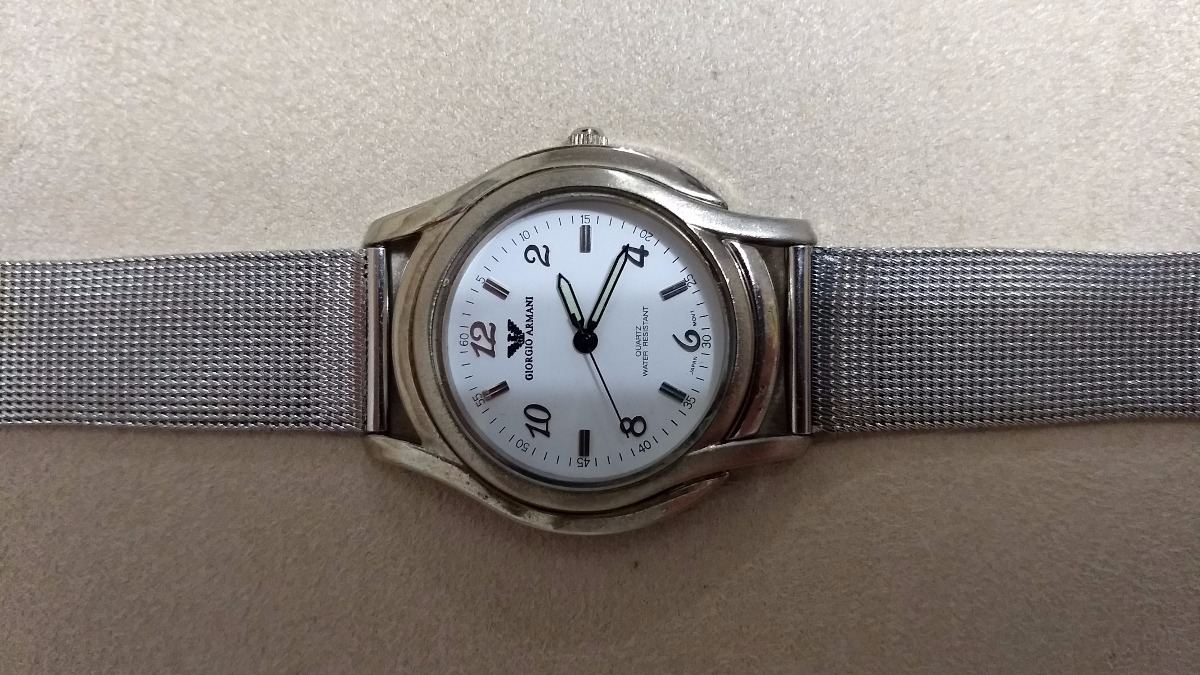 d7c9a8fbfa0 relógio giorgio armani - pulseira em aço. Carregando zoom.