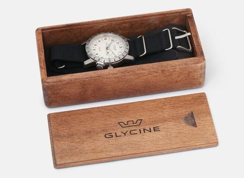relogio glycine 24 horas modelo vintage 1953 edicao ltda 42m