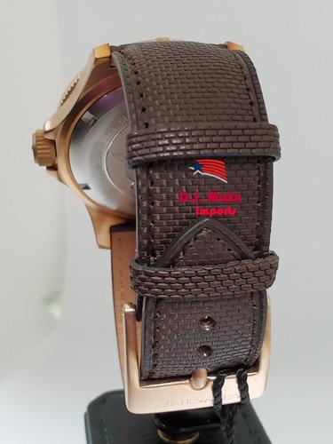 relógio glycine combat sub automátic 48mm bronze novo