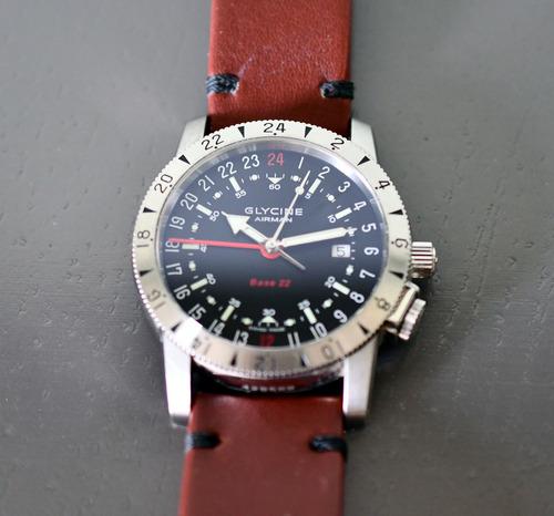 relógio glycine suíço airman base 22 - automático - top