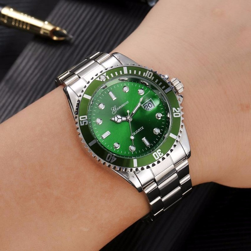 59aee0d514b relógio gonewa green quartzo unissex pulso. Carregando zoom.