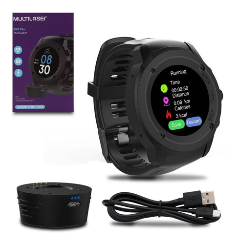 relógio gps bluetooth multiwatch sw2 plus p9080 touch screen