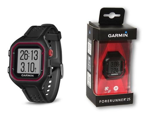 relógio gps corrida garmin forerunner 25 original bk/ve