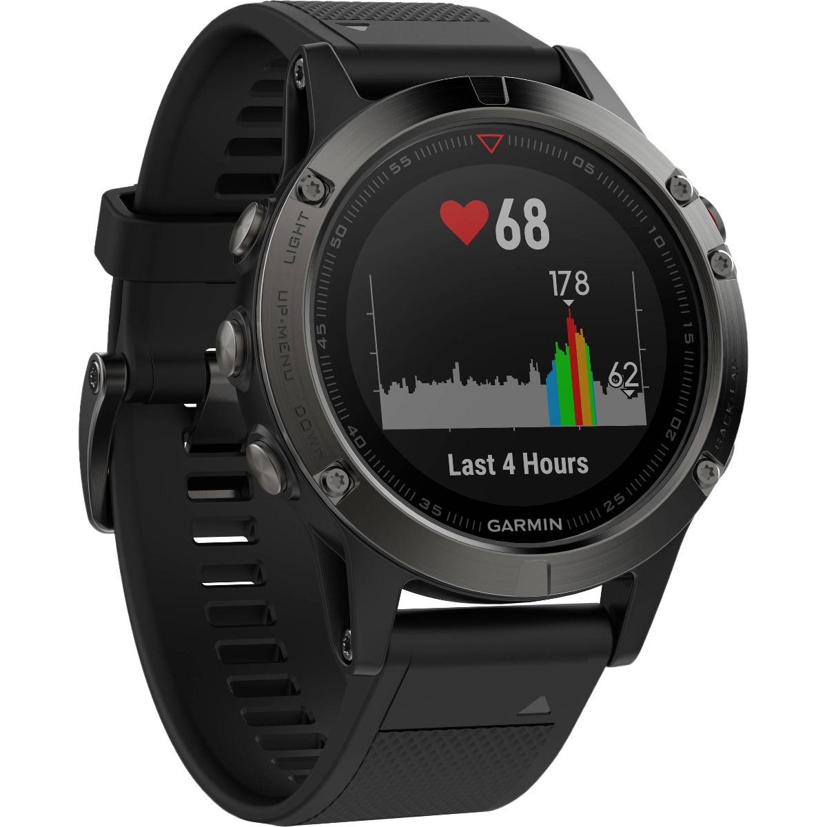 ec46819de2291 Relógio Gps Garmin Fenix 5x Safira Hrm 51mm Cinza Altimetro - R  3.699,00  em Mercado Livre