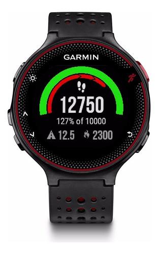 relogio gps garmin forerunner 235 preto vermelho 010-03717-71 autorizada garmin