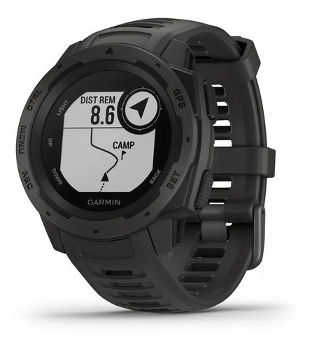 relógio gps garmin instinct cinza monitor cardíaco natação