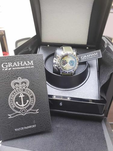 relógio graham chronofighter vintage gmt 44mm ref 2cvbc g01a