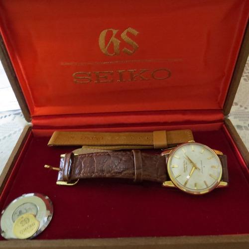 relógio grand seiko the first cal 3180 chronometer 25 rubis