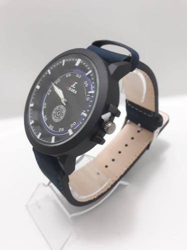 relógio grande moda militar pulseira de couro