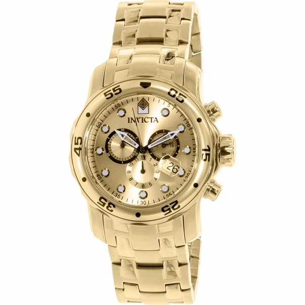 842c9b60cdd Relógio Grife Invicta 0074 Pro Diver Banhado A Ouro 18k - R  849