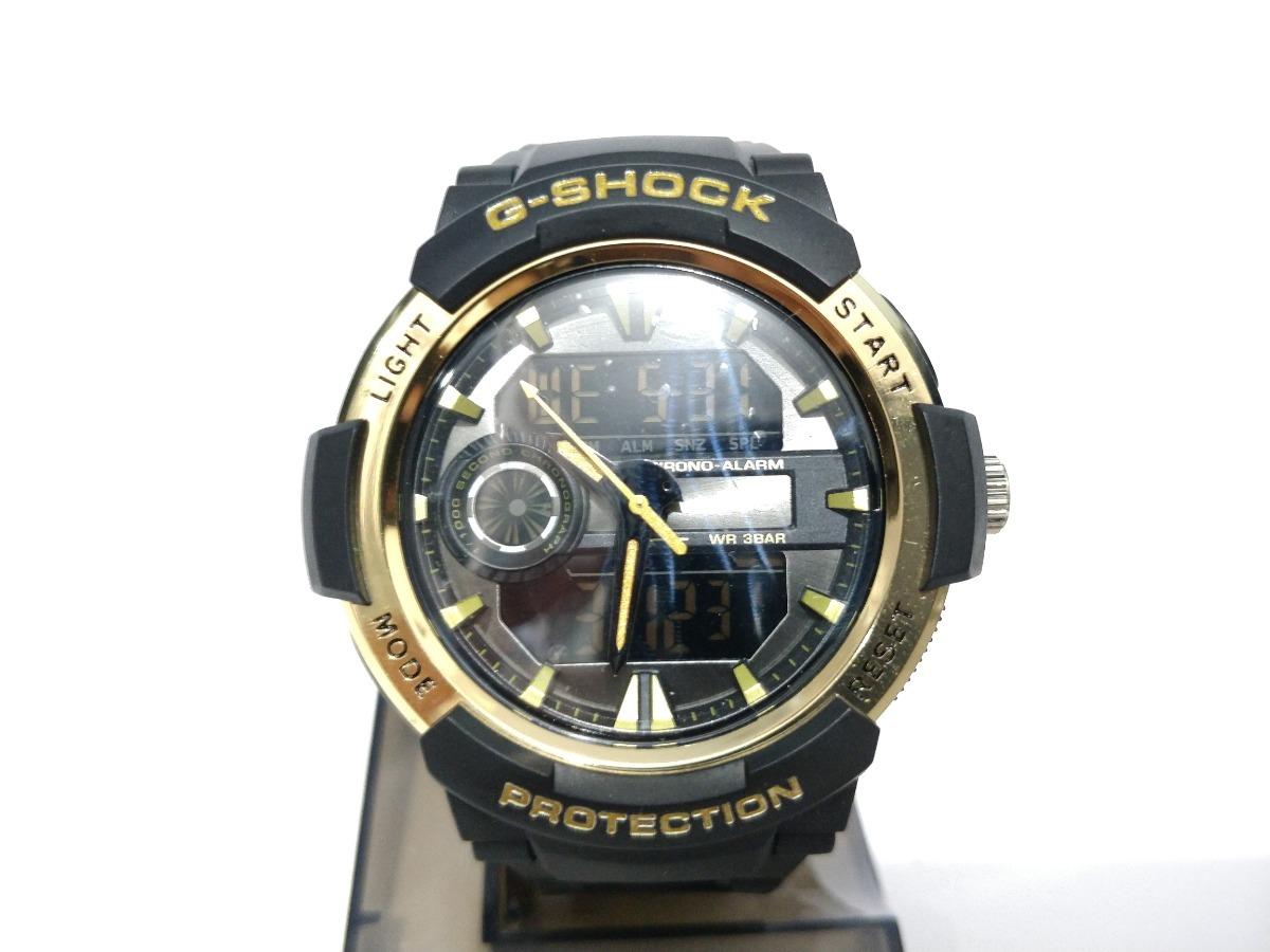 c6e8260baac relogio gshock casio wr38bar preto com dourado. Carregando zoom.