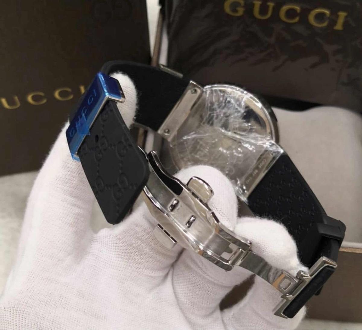 2a260f69ceb Relógio Gucci Digital Preto Novo Original - R  1.648