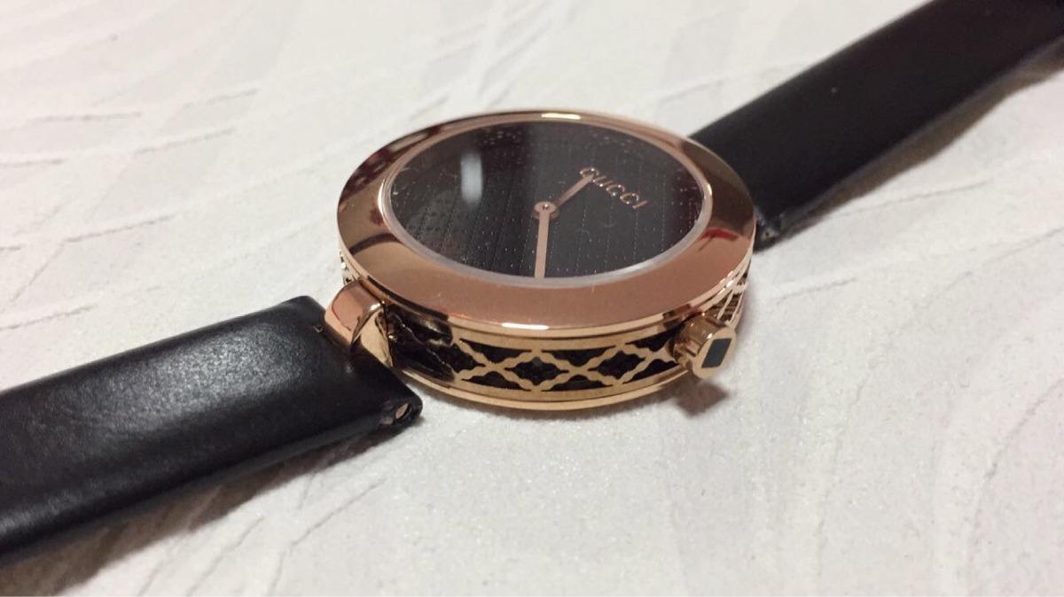 8f00384446e relógio gucci feminino pulseira de couro - pronta entrega. Carregando zoom.