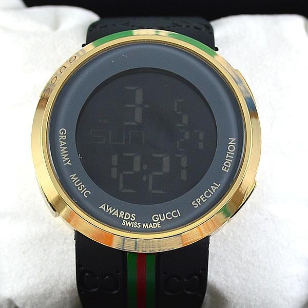 fd331e806f8 Relógio Gucci Digital Dourado Unissex À Prova D´água - R  169