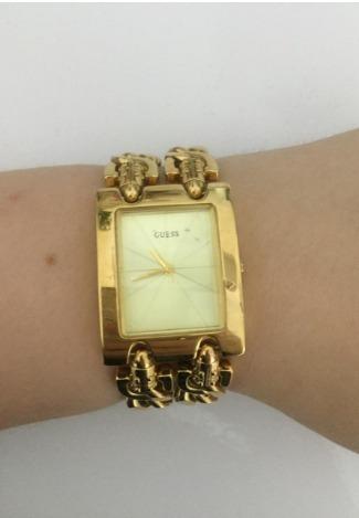 relógio guess 190176l dourado original seminovo