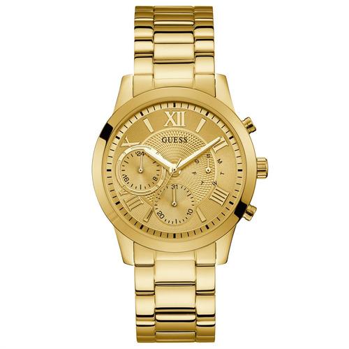 relógio guess feminino dourado multifunção 92686lpgdda2